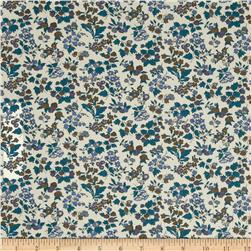 Liberty of London Tana Lawn Nancy Ann Blue/Brown
