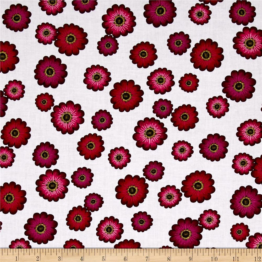 Kanvas Floral Philosophy Daisy Philosophy White Fabric