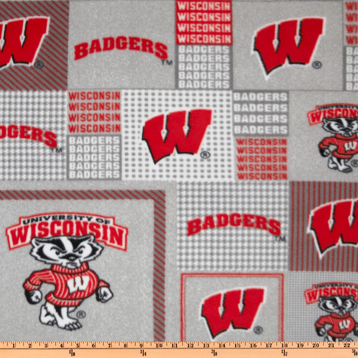 Collegiate Fleece University Of Wisconsin Plaid Blocks