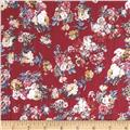 Cotton Lawn Prints Floral Cranberry/Cream