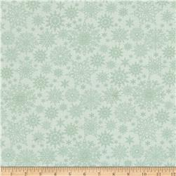 A Festive Season Metallic Tonal Snowflake Light Green