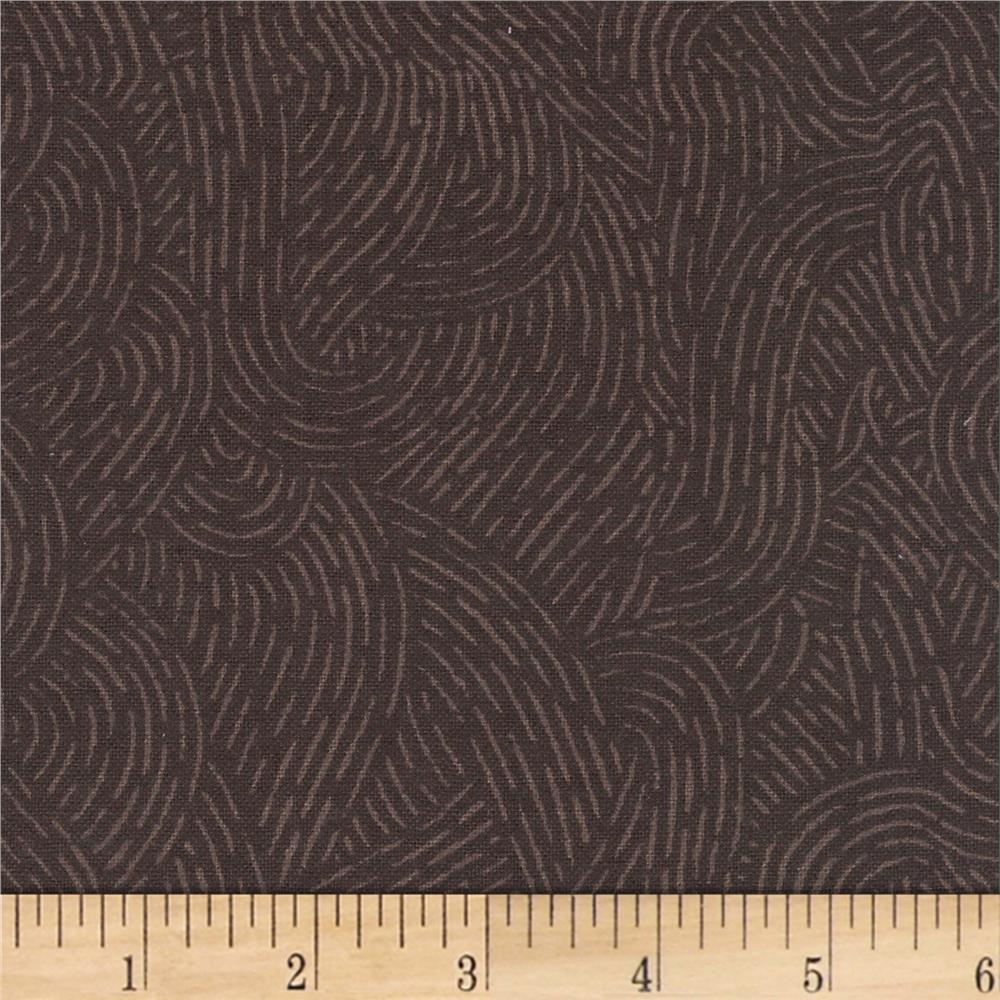 110'' Wide Flannel Quilt Backing Seacoast Brown Fabric By The Yard