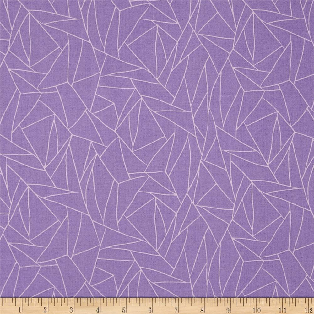 Kaleidoscope Fused Glass Lilac