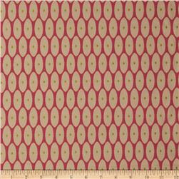 Robert Allen Promo Middle Dot Jacquard Raspberry
