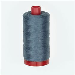 Aurifil 12wt Embellishment and Sashiko Dreams Thread Dark Grey