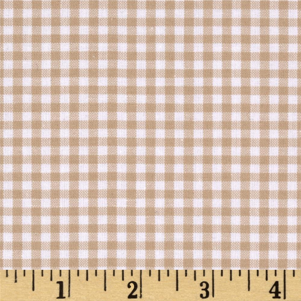 Kaufman 1/8'' Carolina Gingham Sand