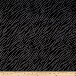 Double Knit Jacquard Charcoal/Black Zebra Print
