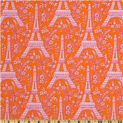 Michael Miller Eiffel Tower Collection Sorbet Orange