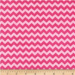 Timeless Treasures Ziggy Small Chevron Peony Pink