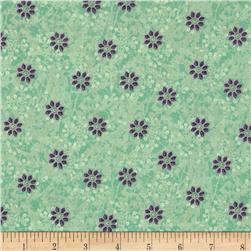 Bohemian Chic Small Tossed Floral Mint
