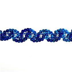 Team Spirit #50 Sequin Trim Royal Spot