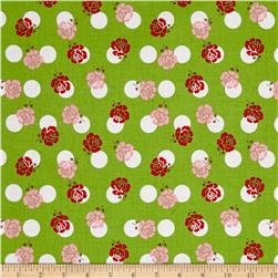 Riley Blake Sew Cherry 2 Rose Green