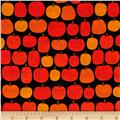 Kaufman Pumpkin Fun Pumpkin Grid Black