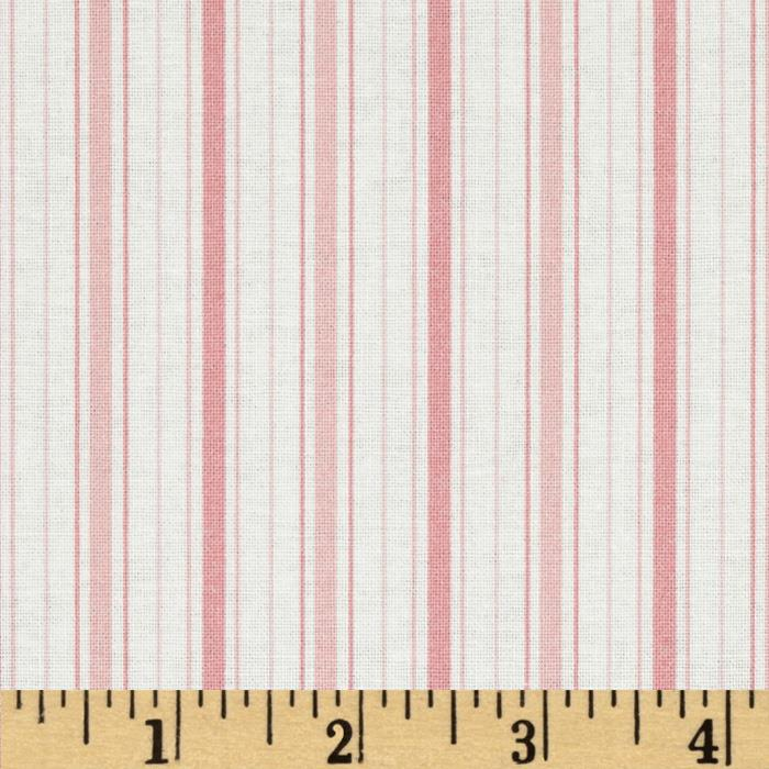 Treasures By Shabby Chic Vintage Rose Stripe Pink/Ivory