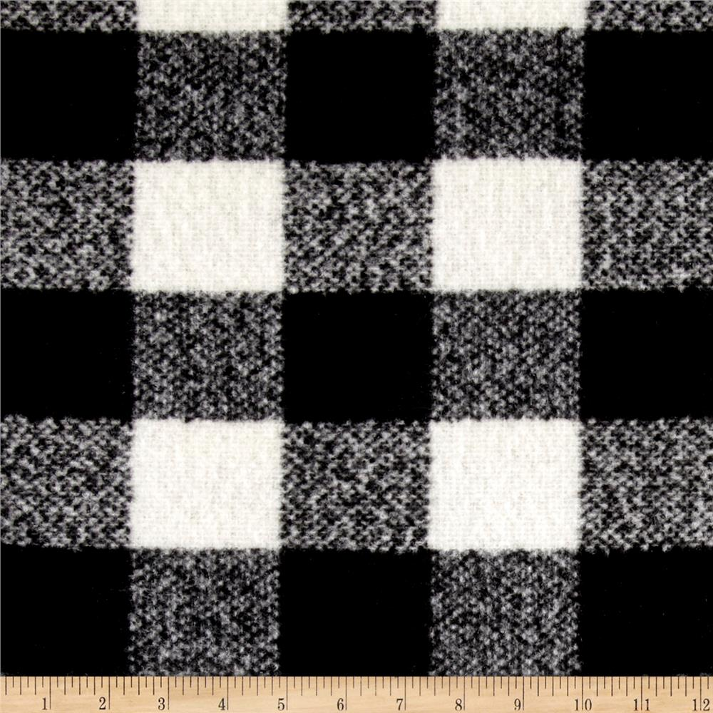 Telio addison plaid white black discount designer fabric for Fabric purchase