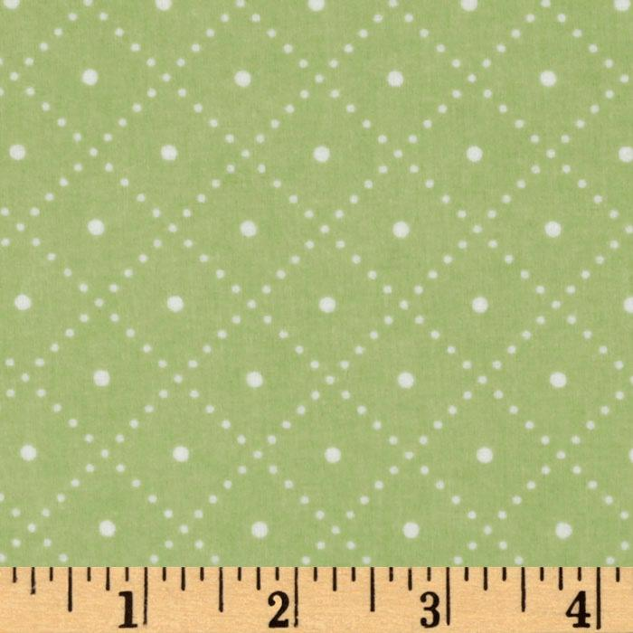 Cozy Cotton Flannel Grid Celery