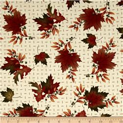 Moda Maple Island Autumn Leaves Cream