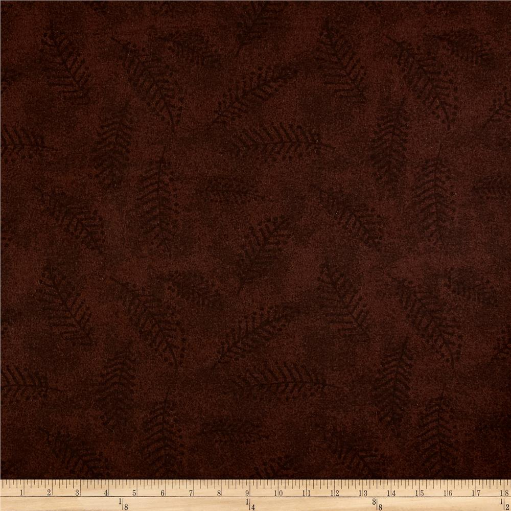"110"" Wide Flannel Quilt Back Fern Brown"