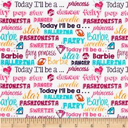 Barbie Words White/Multi