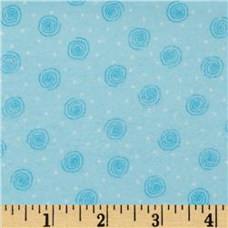Comfy Flannel Swirl Blue