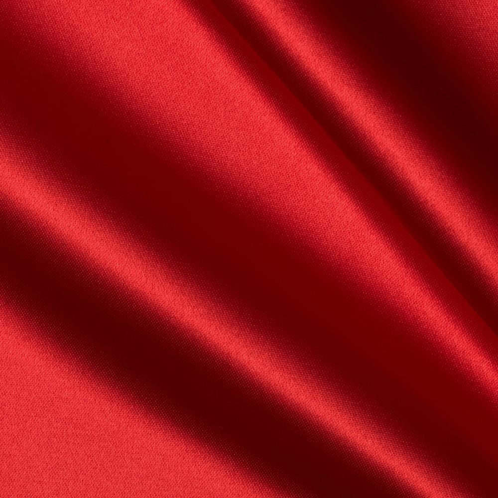 Bridal satin red discount designer fabric for Satin fabric