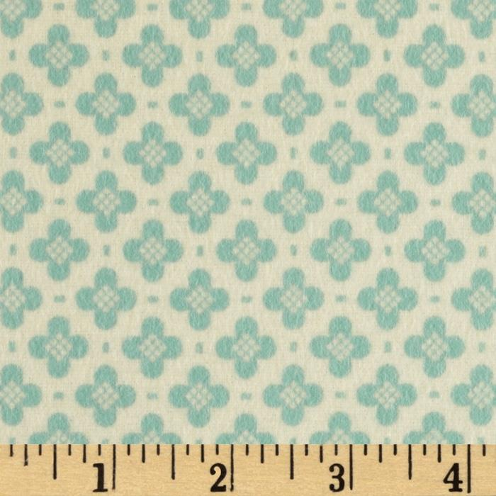 Riley Blake Sidewalks Flannel Hopscotch Teal
