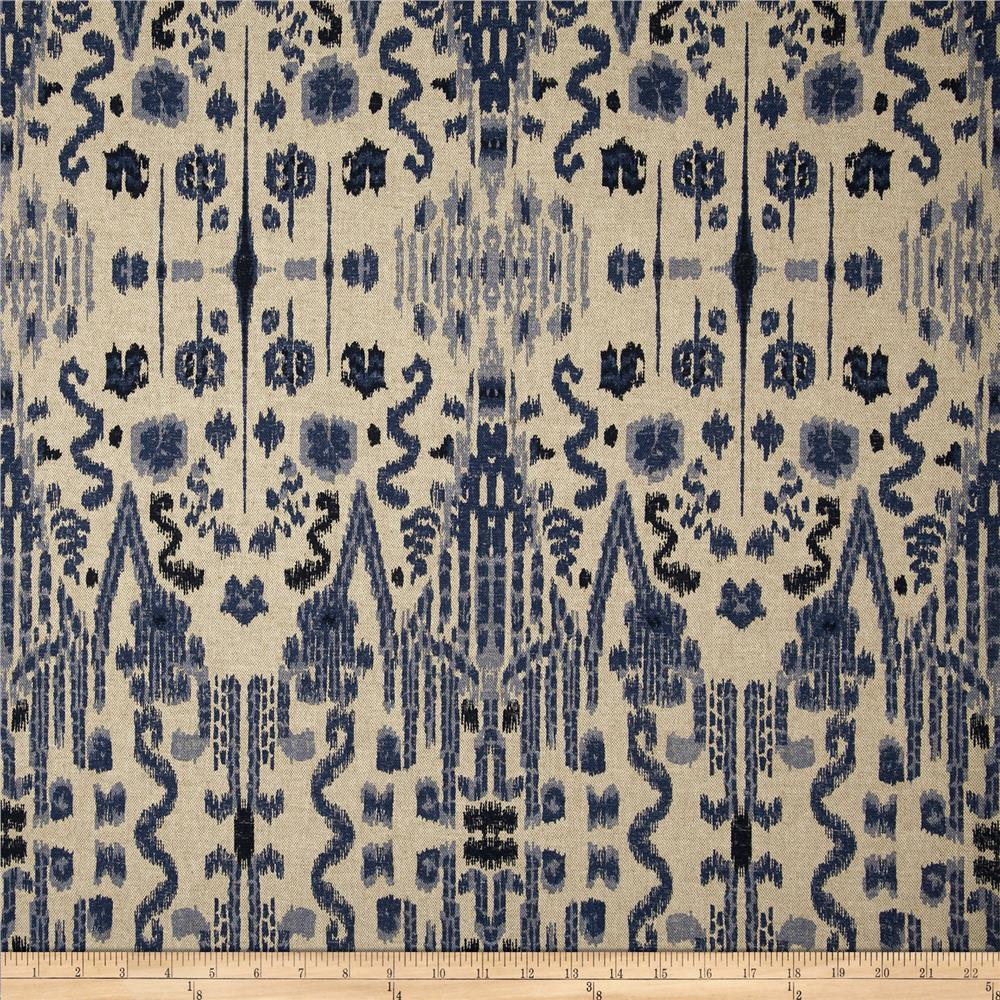 Lacefield Mumbai Indian Blue - Discount Designer Fabric - Fabric.com