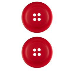 Riley Blake Sew Together 1 1/2'' Matte Round Button Red