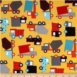 Ready Set Go Work Trucks Retro Fabric