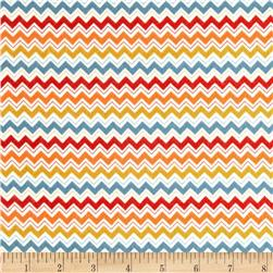 Riley Blake Hooty Hoot Returns Flannel Chevron Orange