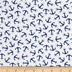 Timeless Treasures Splash Anchors White
