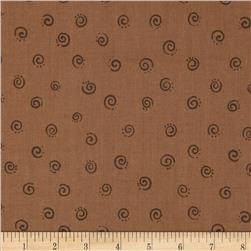 Lyon Small Swirls Brown