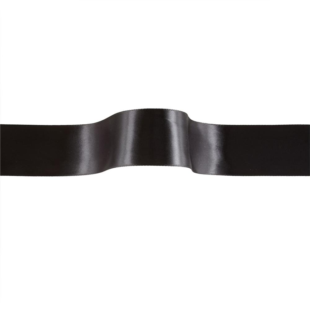 "1 1/2"" Offray Double Face Satin Ribbon Black"