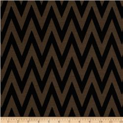 Fashionista Jersey Knit Chevron Brown/Black