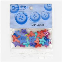 Dress It Up Embellishment Buttons Star Combo