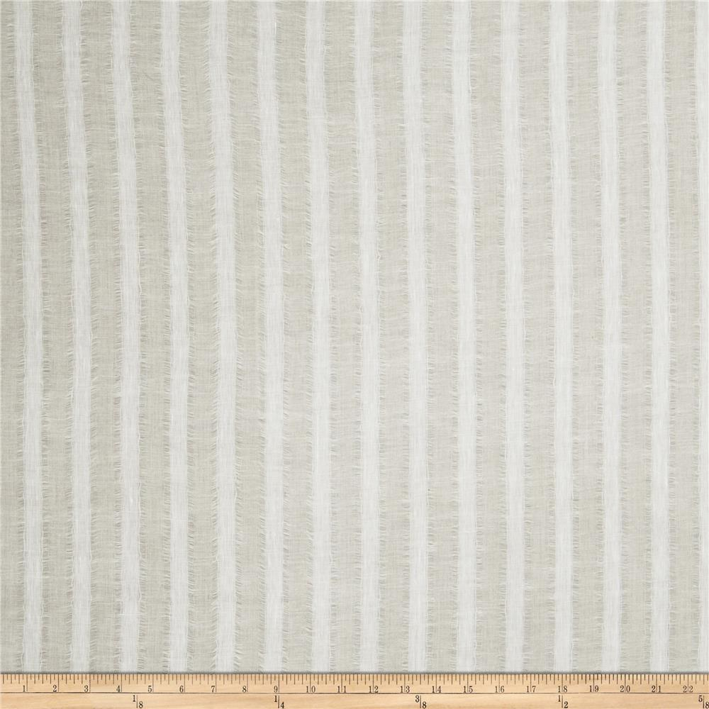 Fabricut Mcneeley Stripe Linen Blend Beige