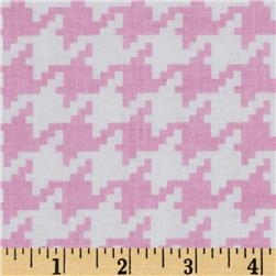 Michael Miller Everyday Houndstooth Rose