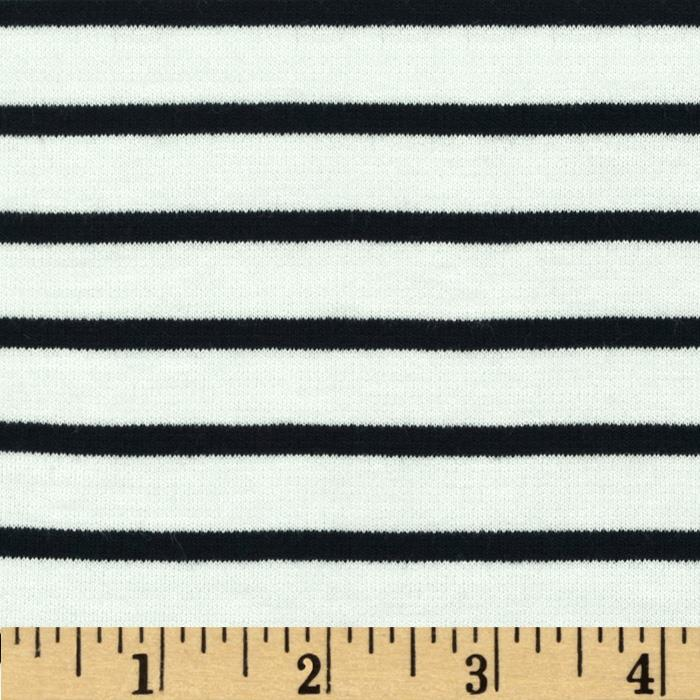St. James Stripe Double Knit Eggshell/Black