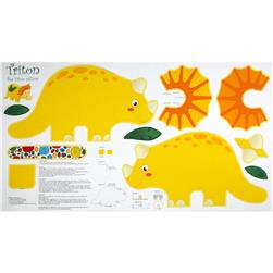 Jungle Club Triton Pillow Panel Yellow