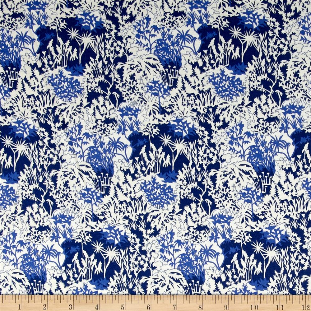 Liberty of London Dufour Jersey Knit Paper Garden Forest White