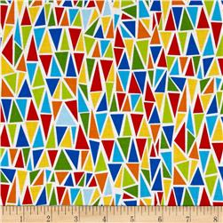 Dandy Dinos Triangles White Multi