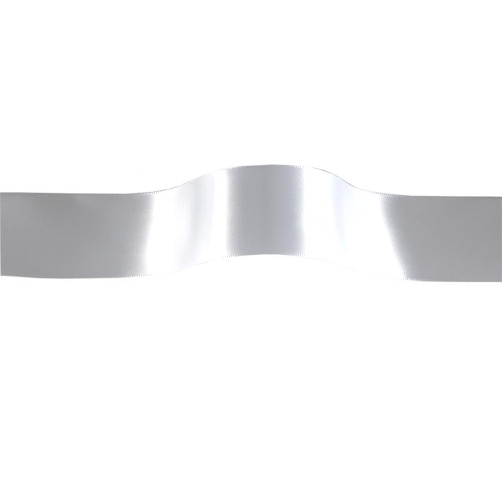 "1 1/2"" Offray Single Face Satin Ribbon White"