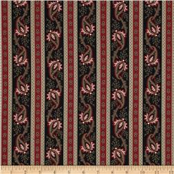 Border Companions Paisley Black/Red