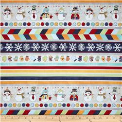 Flaky Snow Pals Snowman Tickertape Multi