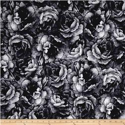 Belleflower Large Tonal Floral Charcoal