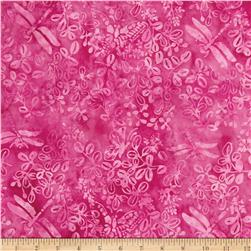 Island Batik Coral Reef Butterfly Dragon Hot Pink