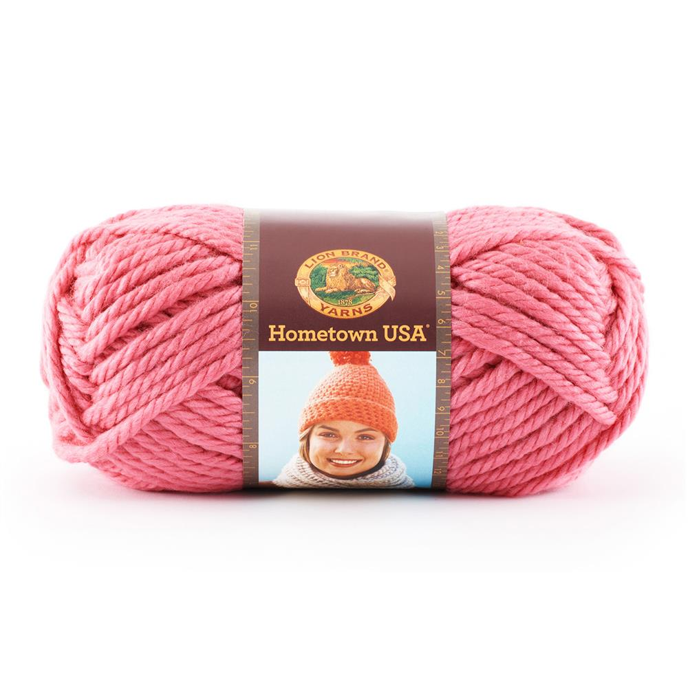 Lion Brand Hometown USA Yarn (102) Honolulu Pink