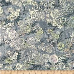 Bali Batiks Handpaints Asian Scenic Dove Fabric