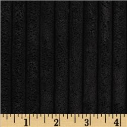 Minky Ribbon Cuddle Black Fabric