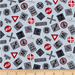 Travel transportation quilting fabric shop online at for Train themed fabric